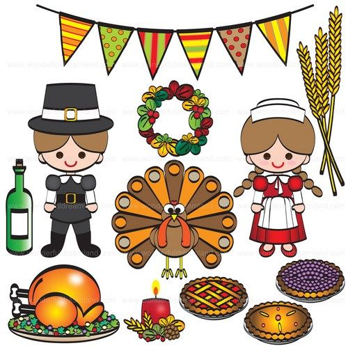 thanksgiving dinner clipart give thanks #6