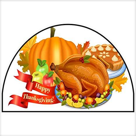 Amazon.com: Half Round Door mats Happy Thanksgiving Greeting.