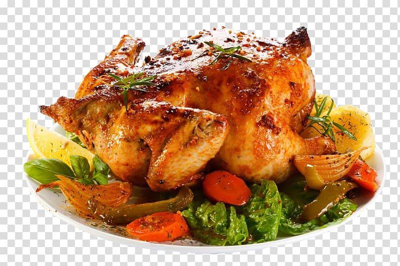 Roasted turkey on vegetables file, Furnace Microwave oven.