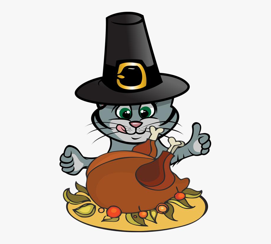 Cat Clipart Thanksgiving.