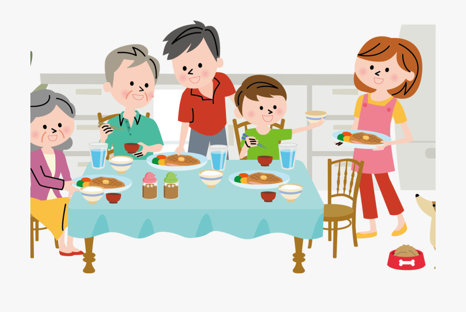 Diner Clipart Family Communication Graphics.
