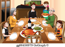 Thanksgiving Dinner Clip Art.