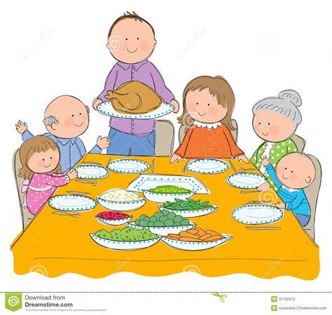 Family Dinner Clip Art.