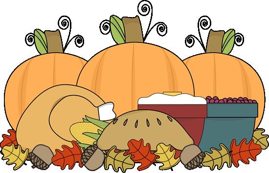 Thanksgiving Feast Clip Art.
