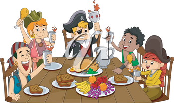 Thanksgiving Feast clipart images and royalty.