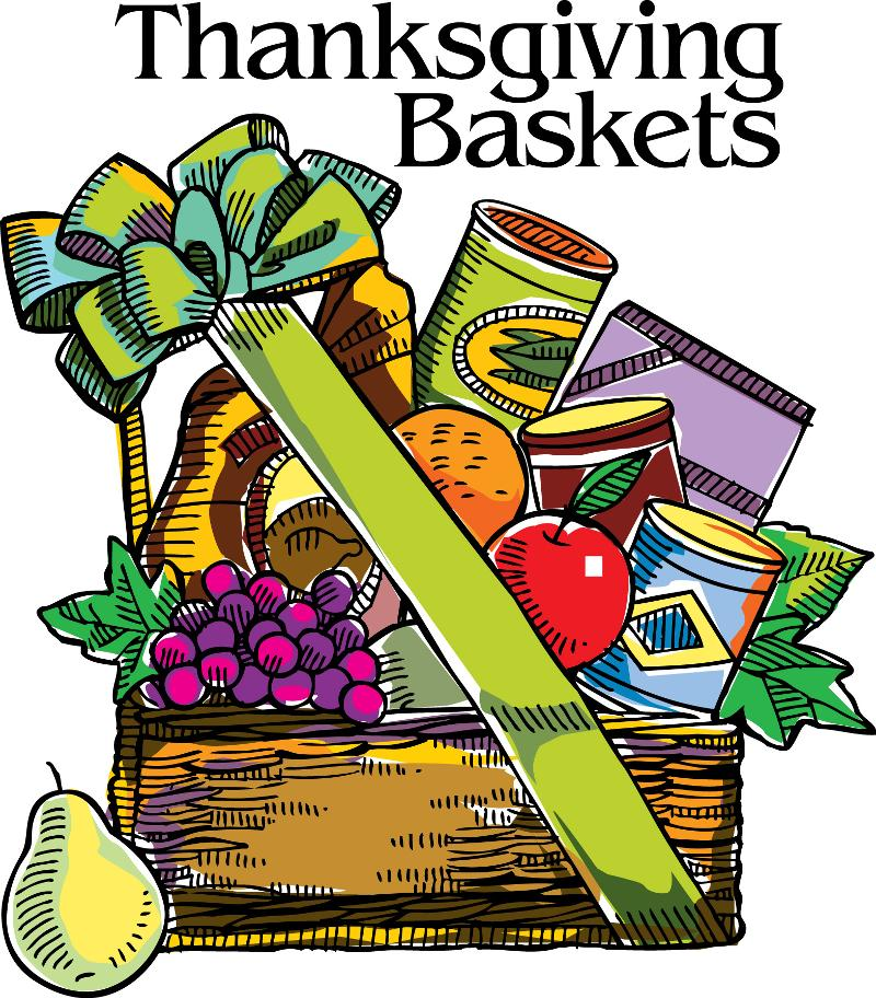 Thanksgiving Food Baskets Clipart.