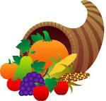 Thanksgiving food basket clipart.