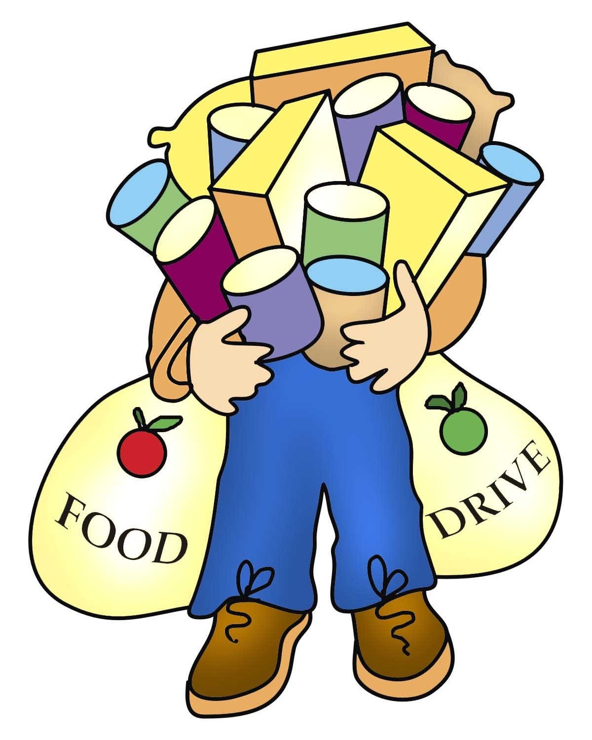 Thanksgiving food drive clip art.