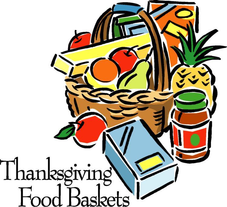 Thanksgiving Basket Clip Art.