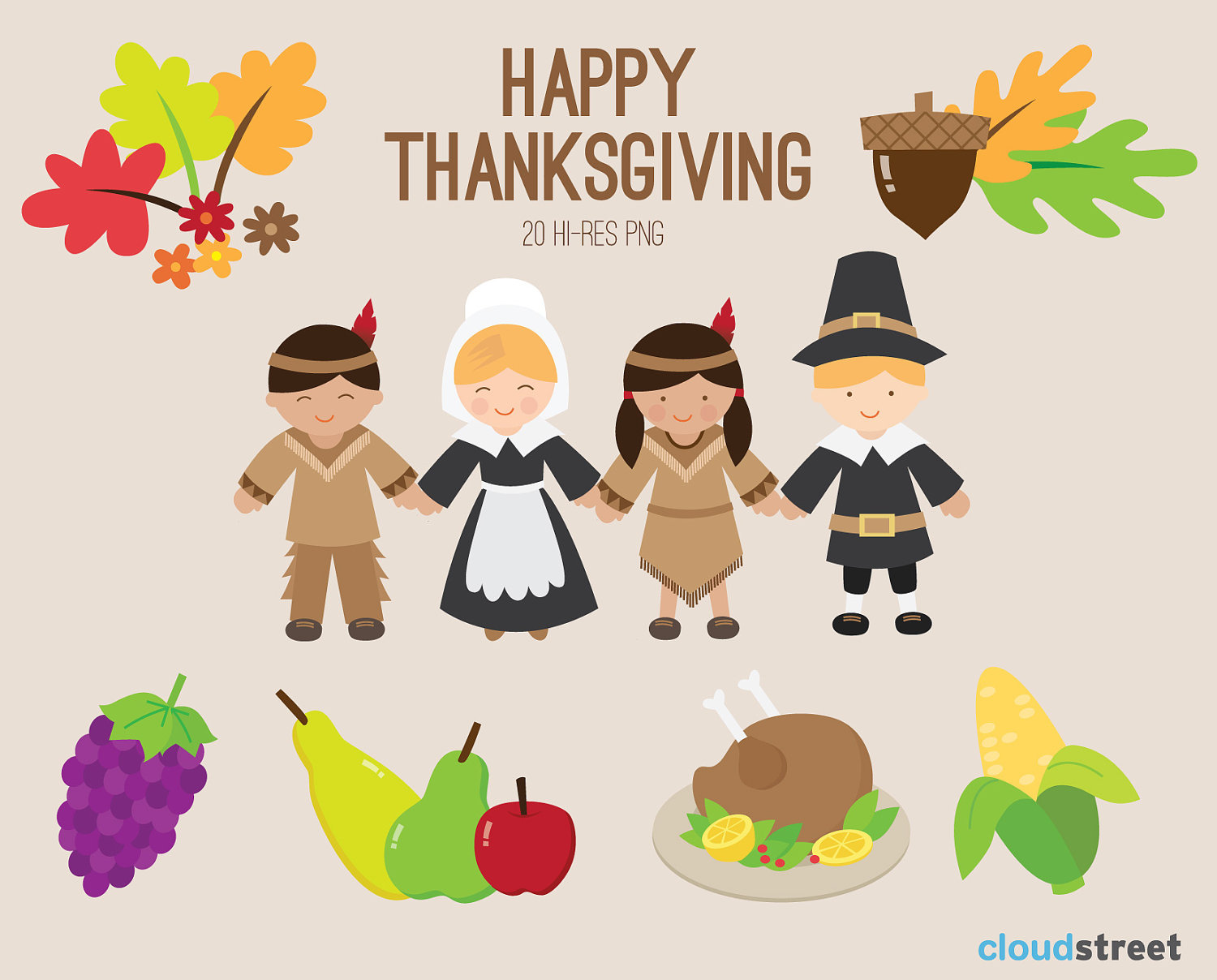 Free Thanksgiving Clipart For Kids.