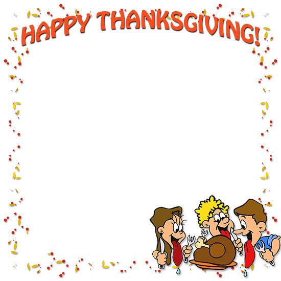 Free Thanksgiving Borders.