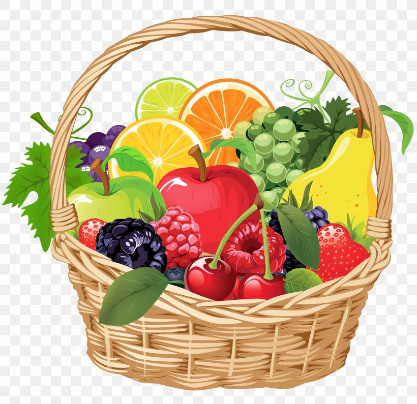 Fruit Food Gift Baskets Clip Art, PNG, 4000x3880px, Fruit.