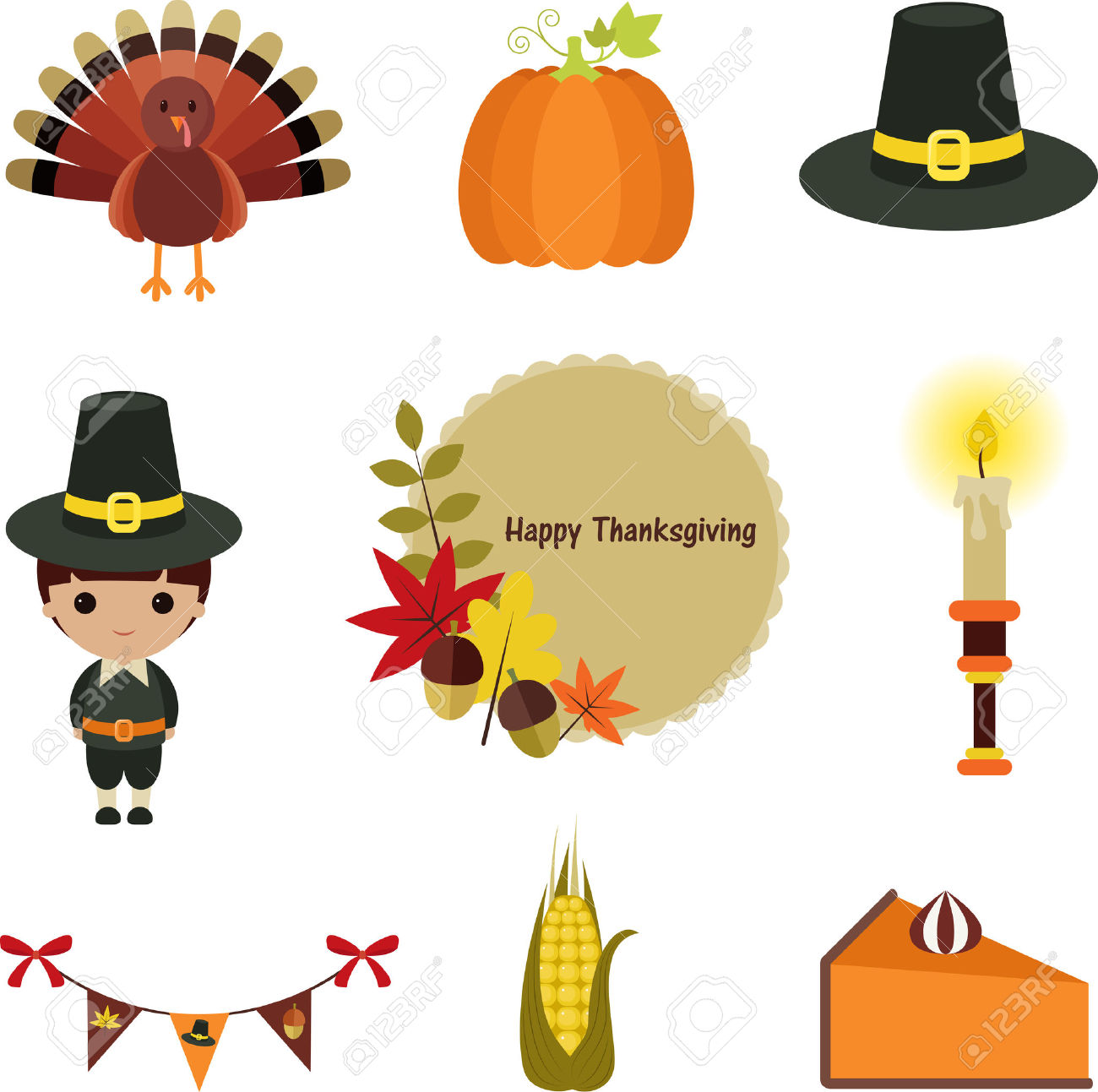 Thanksgiving Clipart Food Border.