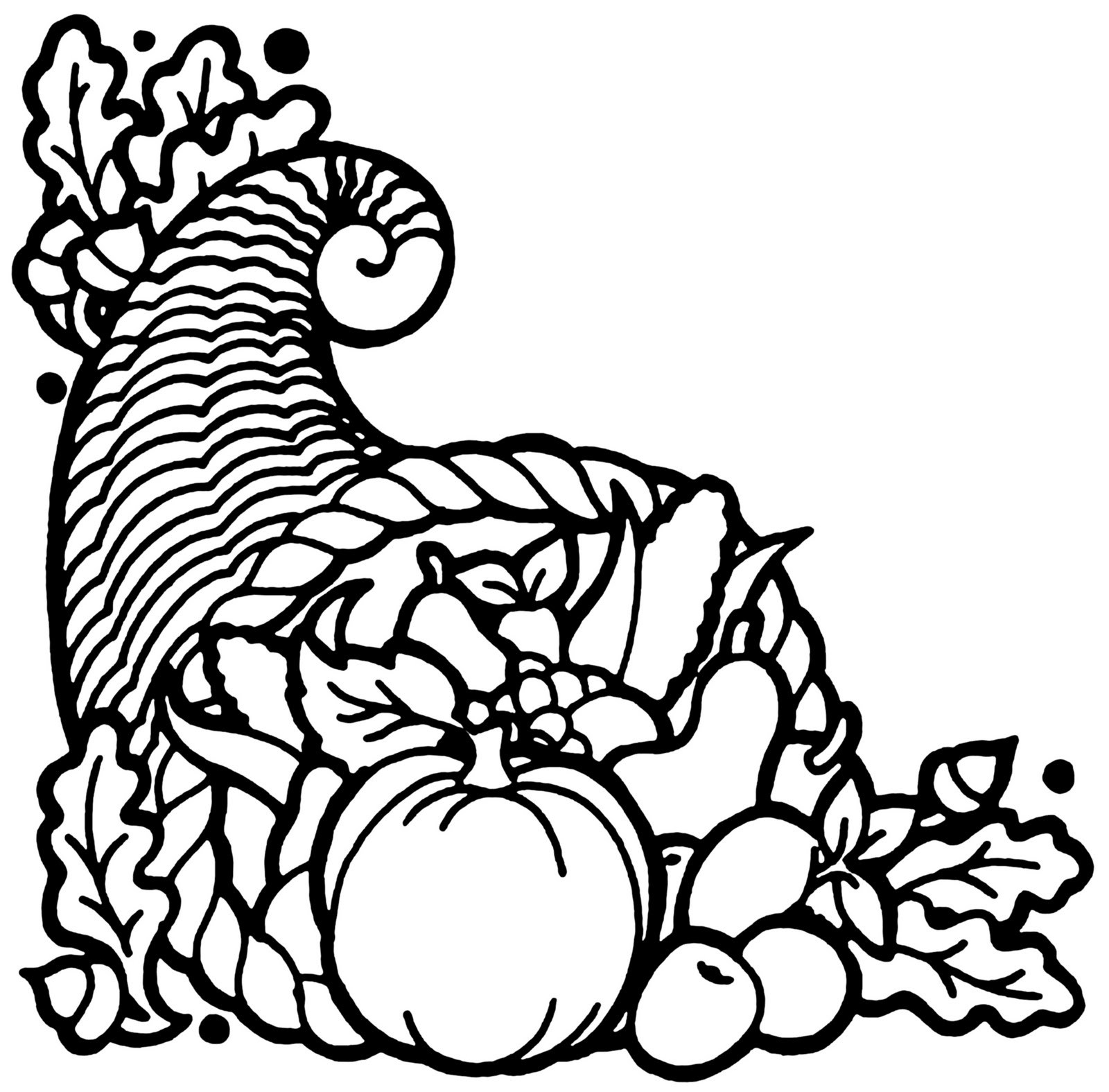 Thanksgiving clipart black and white 4 » Clipart Portal.