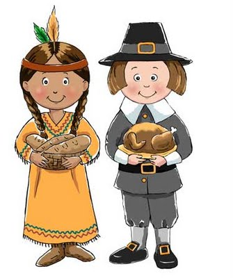 Indians And Pilgrims Clipart.