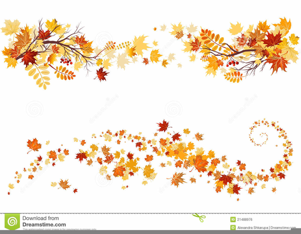 Clipart Divider Leaves Lines Thanksgiving.