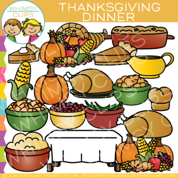 Thanksgiving Dinner Clip Art {Thanksgiving Clip Art } by.