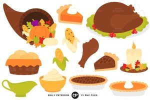 Thanksgiving meal clipart » Clipart Portal.