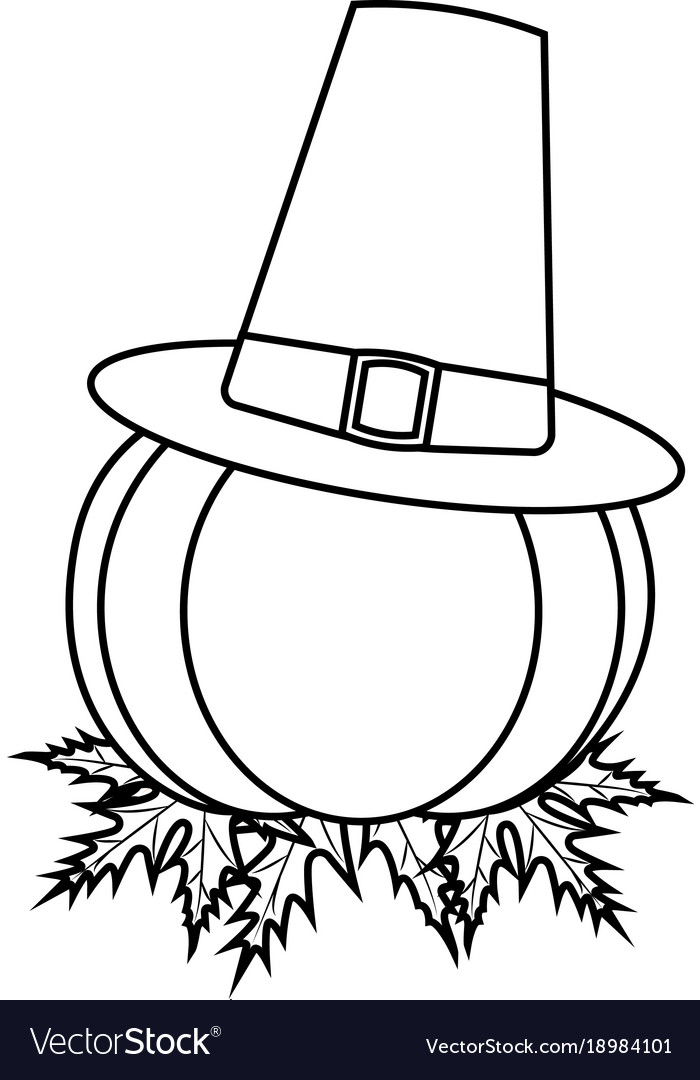 Thanksgiving outline object.
