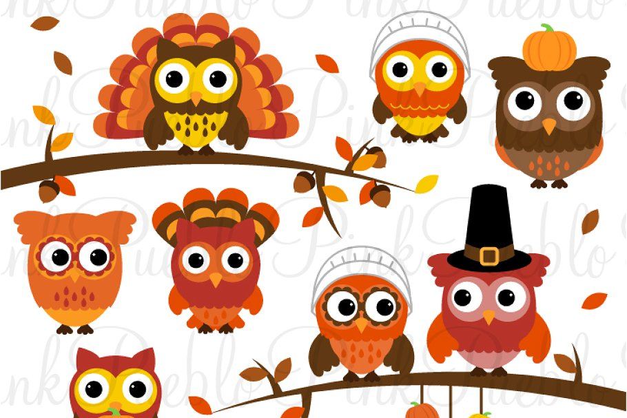 Thanksgiving Owl Clipart & Vectors.