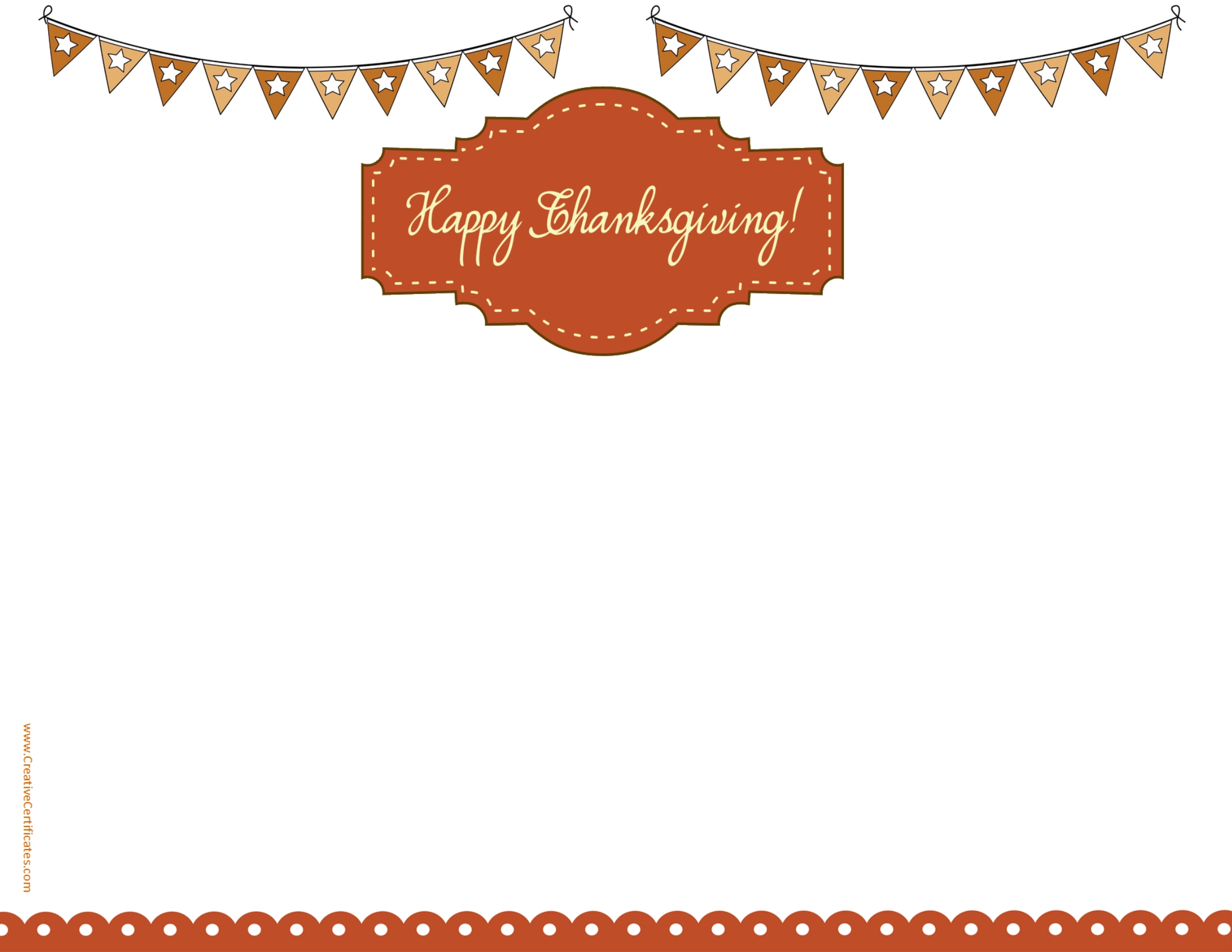 Free Thanksgiving Border Templates.