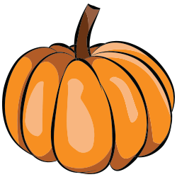 Fall Thanksgiving Pumpkin Clip Art 1.