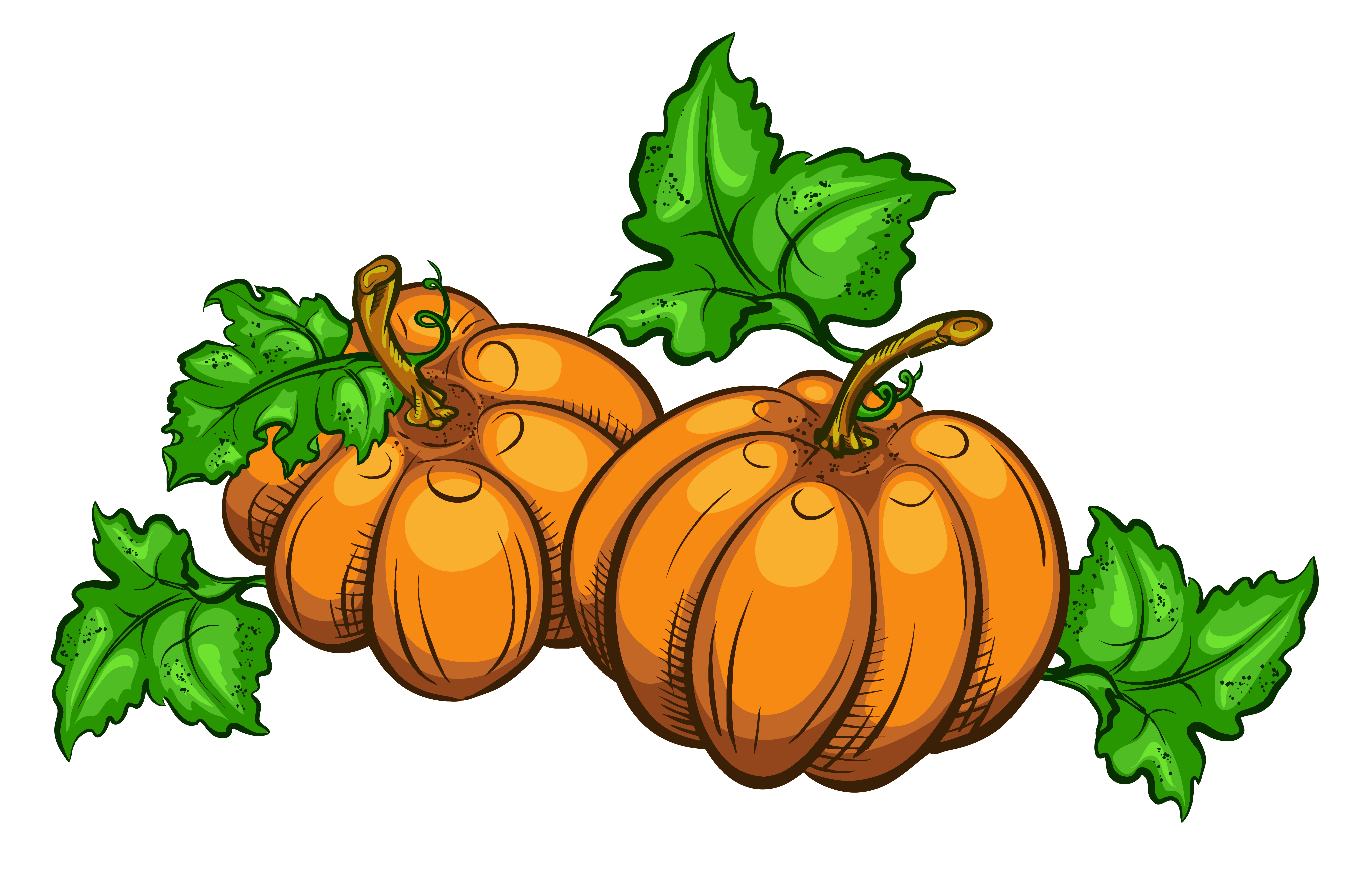 Transparent Pumpkins PNG Clipart Picture.