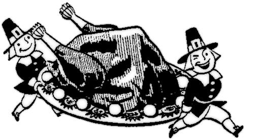Thanksgiving Dinner Clipart Black And White.