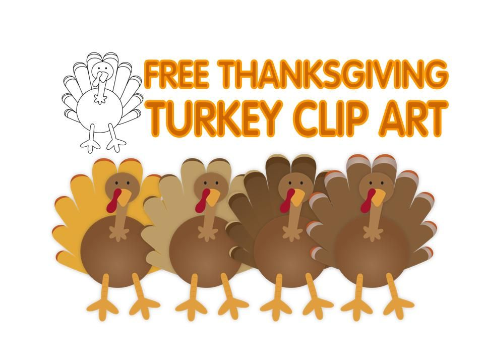 FREE Thanksgiving turkey clip art.