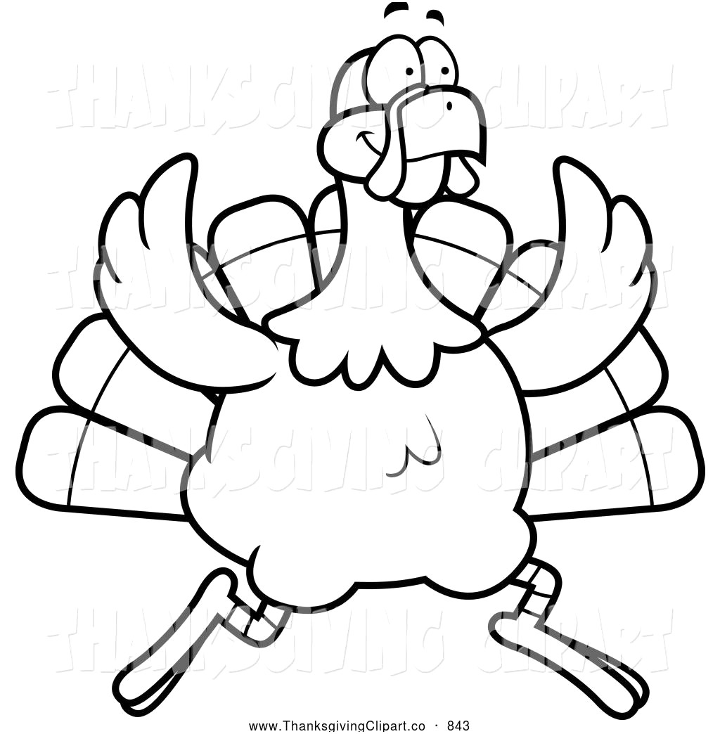 Thanksgiving turkey clipart black and white 2 » Clipart Station.
