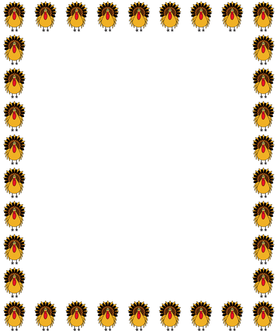 Fall border free turkey clipart border a leafy border with a.