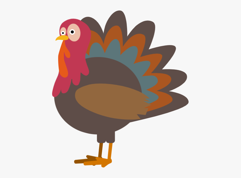 Thanksgiving Turkey Clipart Vector.