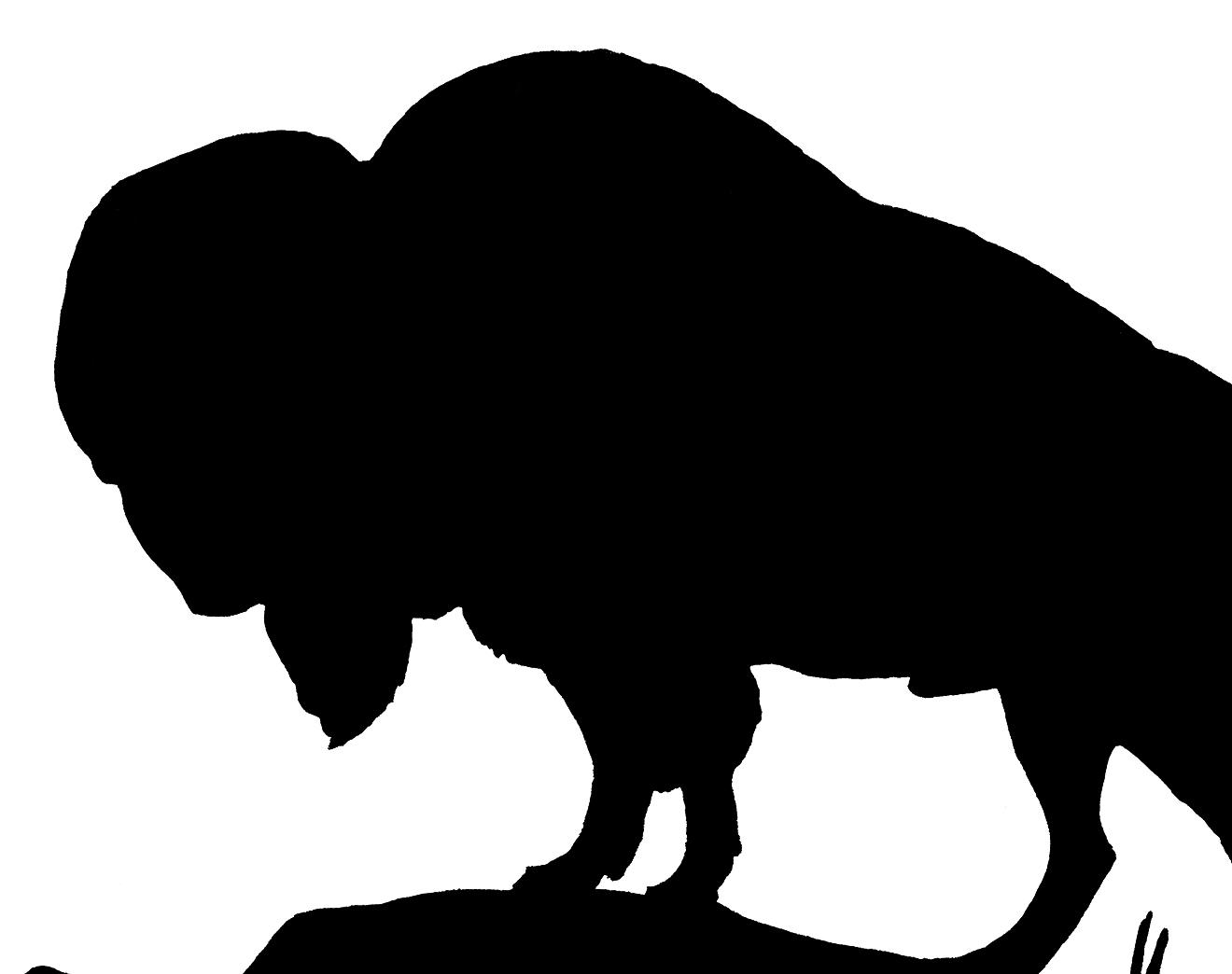 Vintage Buffalo Silhouette Image!.