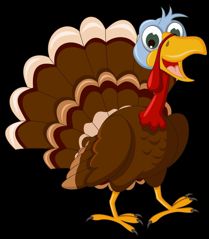Thanksgiving Walking Turkey transparent PNG.
