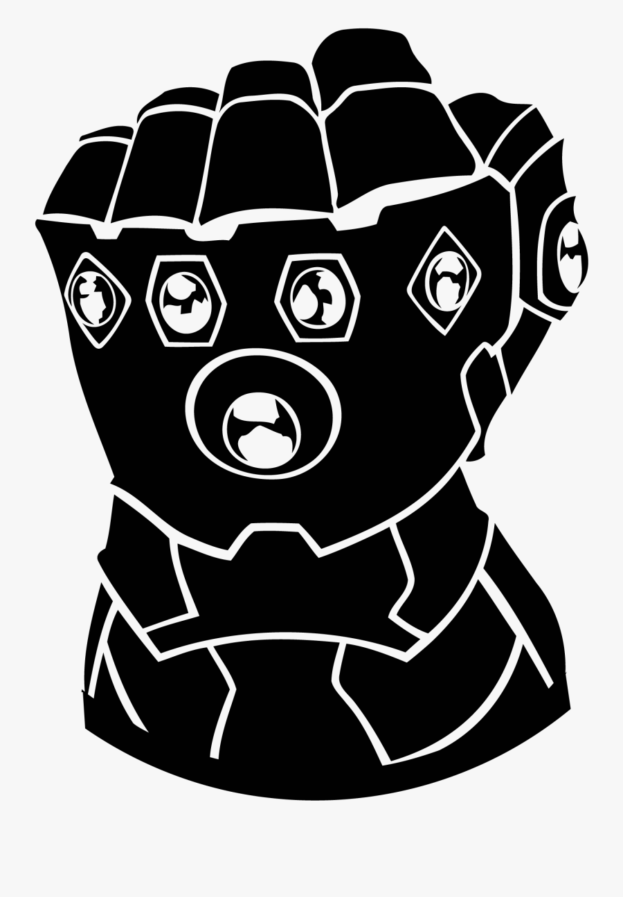 Infinity Gauntlet Black And White , Free Transparent Clipart.