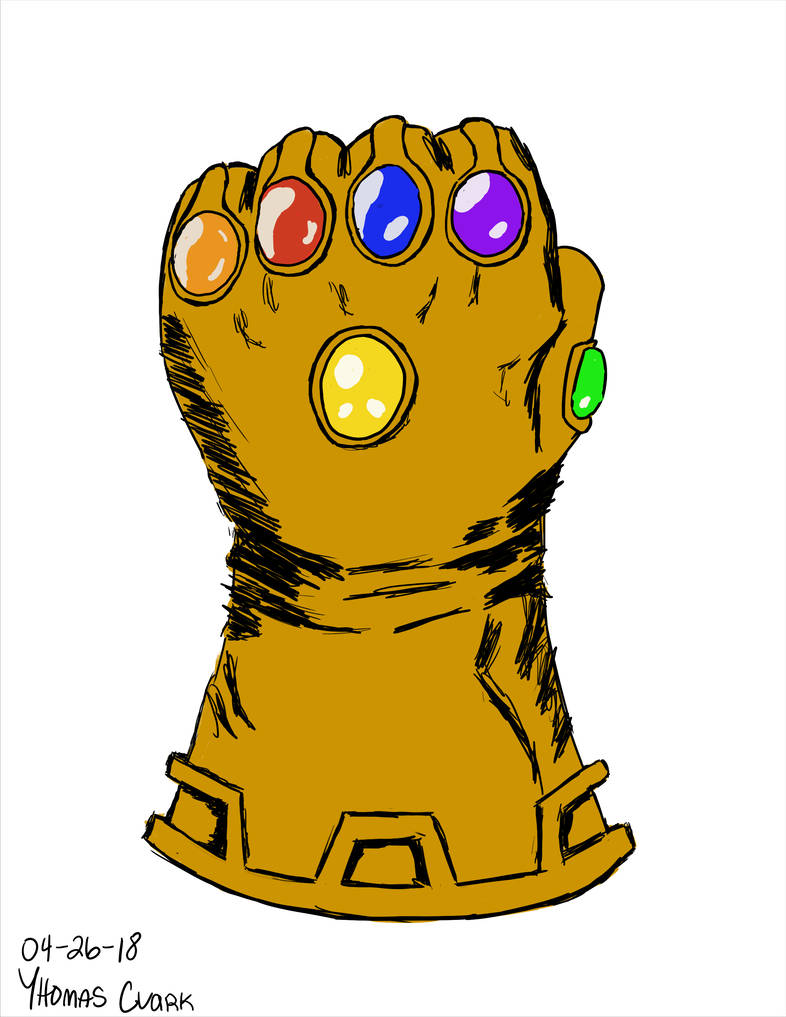 Collection of free Thanos drawing glove. Download on Clipart.