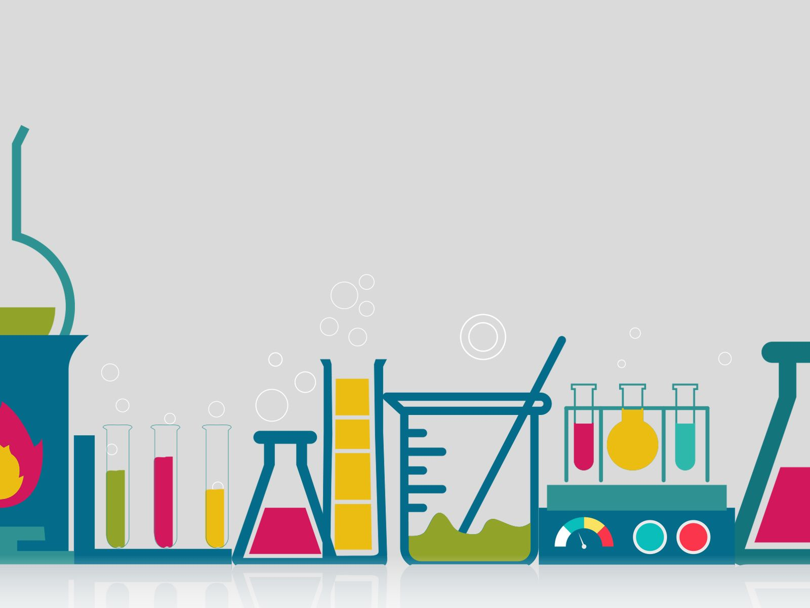 This Chemistry powerpoint background is a simple design.