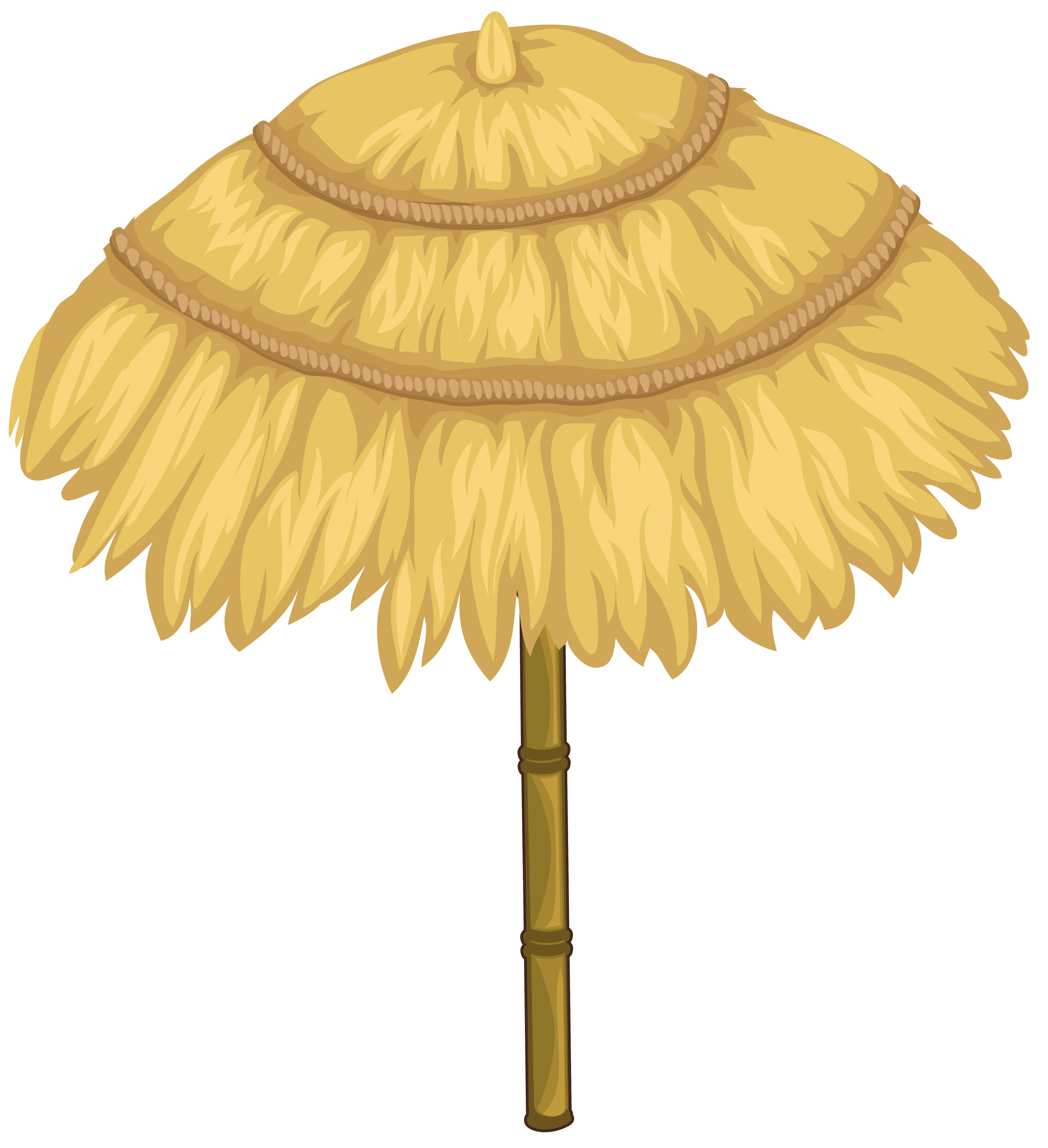 Thatched Umbrella PNG Clipart Image.