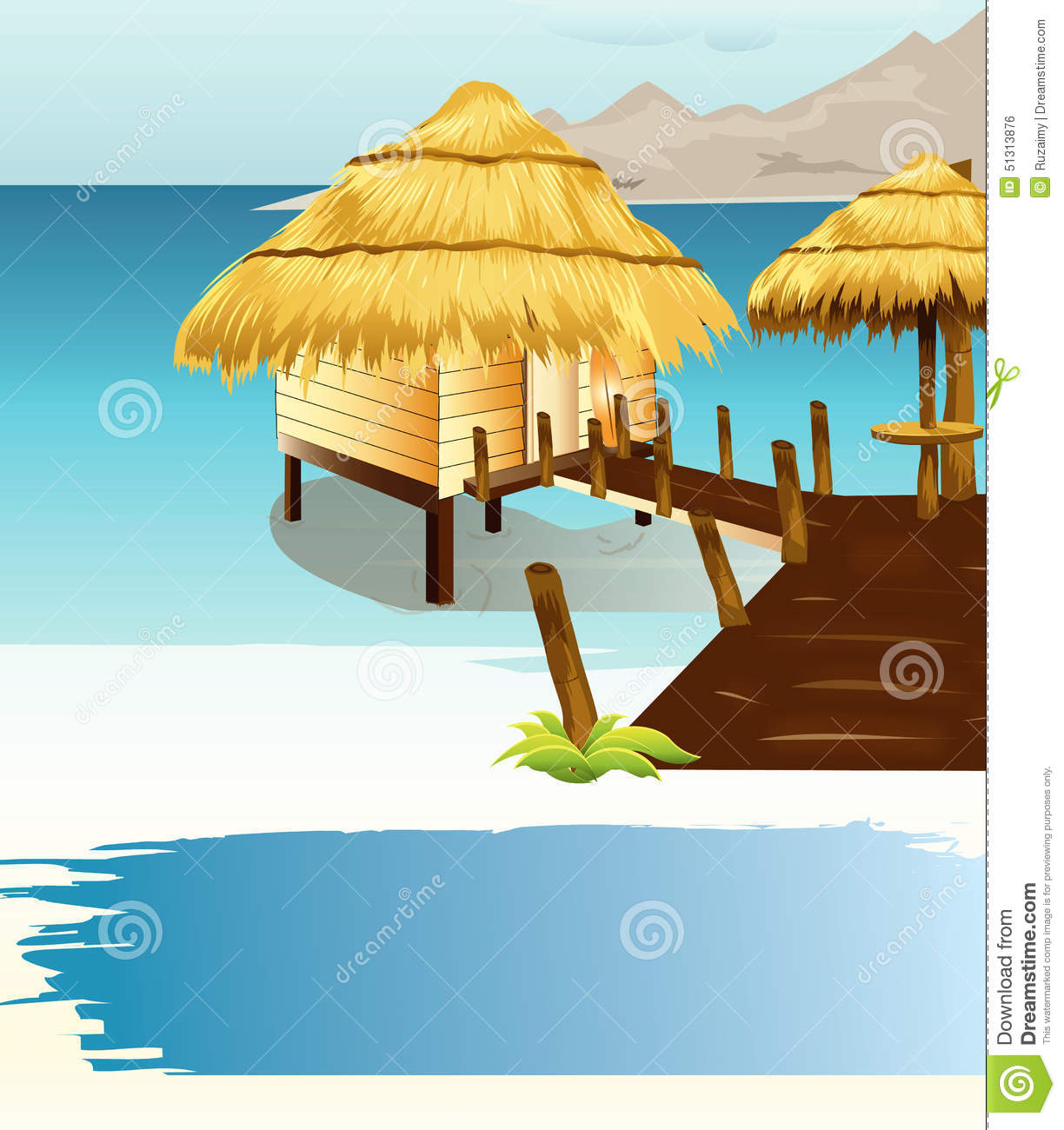 Thatch Roofed Hose Clipart Clipground