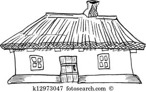 Thatched roof house Clip Art Royalty Free. 39 thatched roof house.