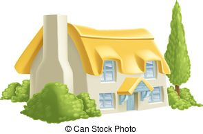 Thatched cottage Clipart Vector and Illustration. 45 Thatched.