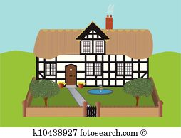 Thatched cottage Clipart Vector Graphics. 45 thatched cottage EPS.