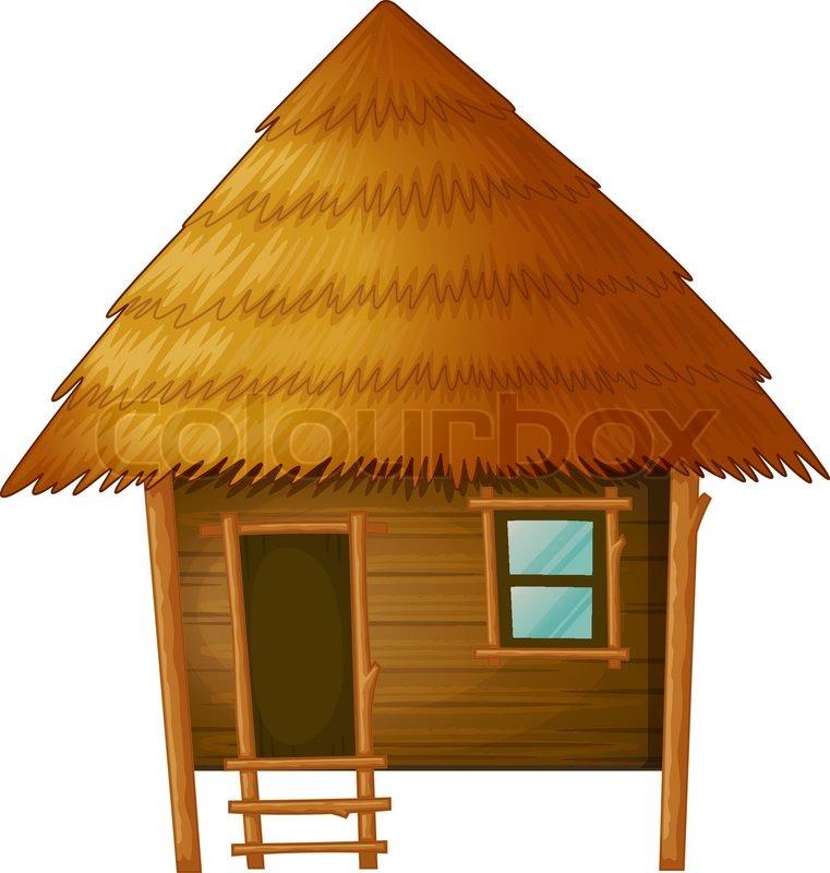 Chinese hut clipart.