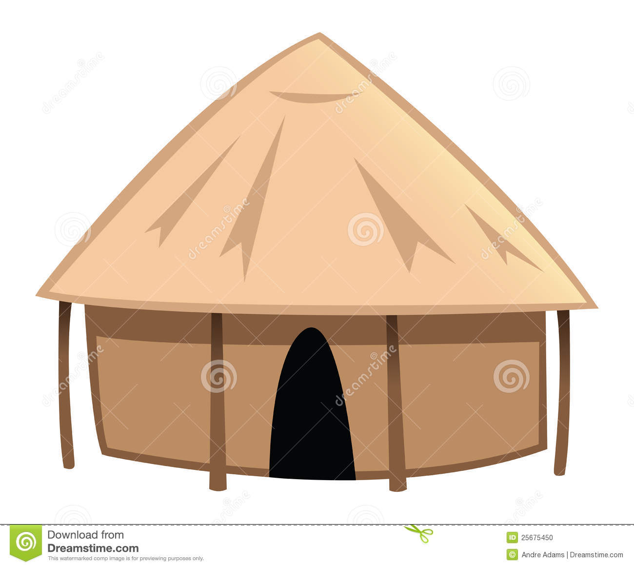 Village hut clipart.