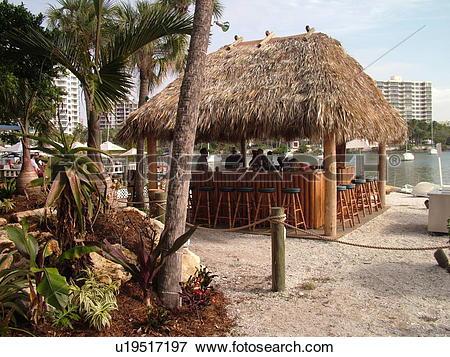 Picture of Sarasota, FL, Florida, Sarasota Bay, outdoor bar.