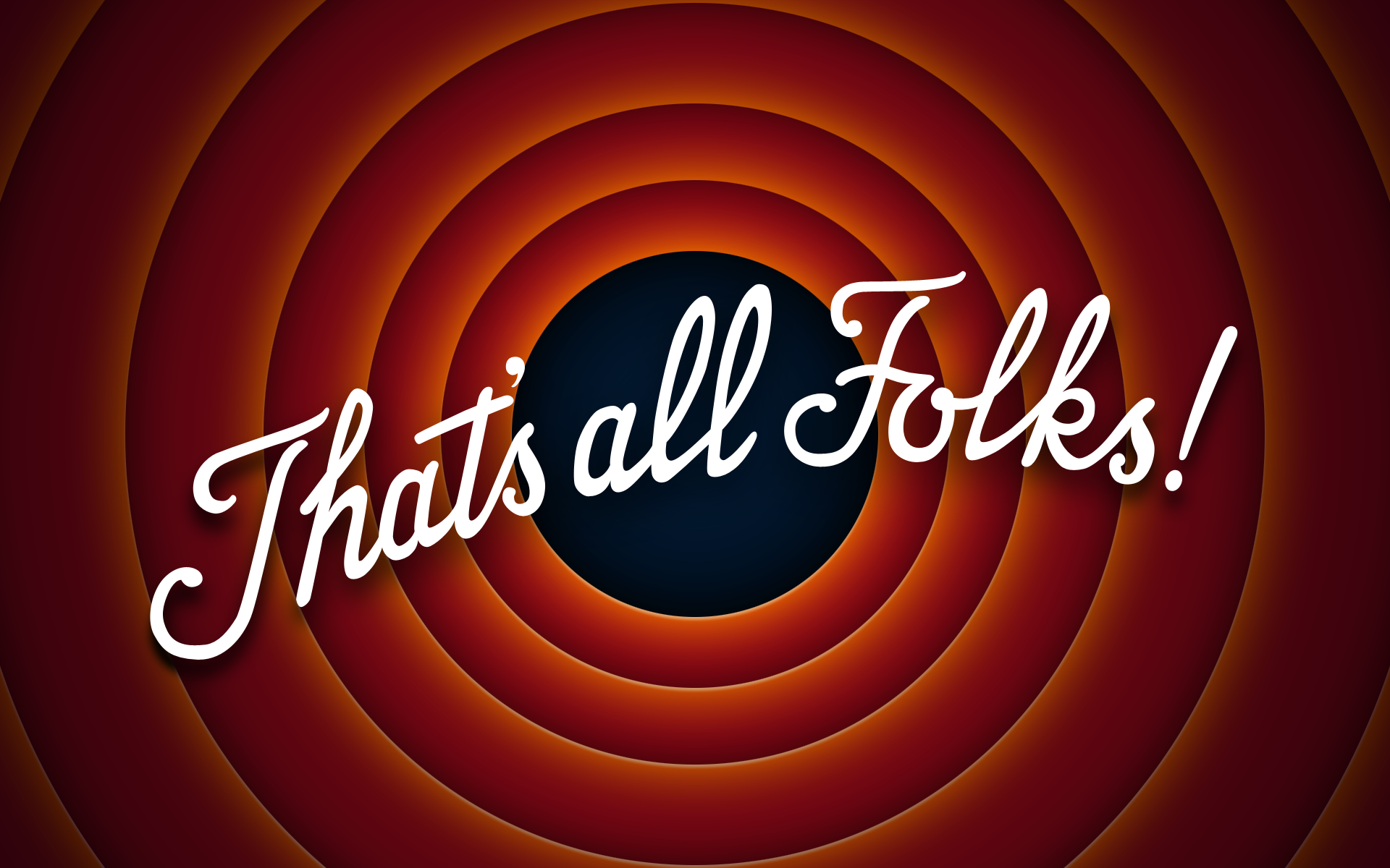 The End Thats All Folks free image.