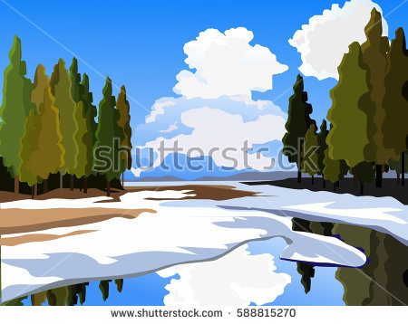 Spring Thaw Stock Vectors, Images & Vector Art.