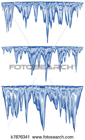 Clipart of Thawing icicles k7876341.