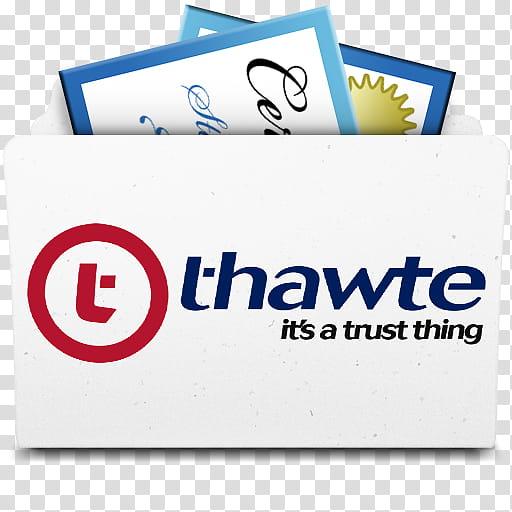 Thawte Certificate Folder, Thawte Certs Folder icon.