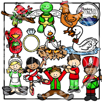 Twelve Days of Christmas Clipart.